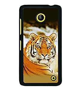 printtech Tiger Stunning Look Back Case Cover for Nokia Lumia 630