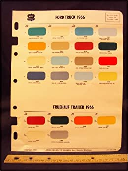 1966 FORD Truck & FRUEHAUF Trailer Paint Colors Chip Page