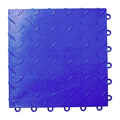 Speedway Garage Floor 6 Lock Diamond Tile