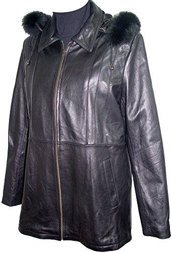 Paccilo 4 Season Wear Womens 4001 Lambskin Leather Parka Jacket