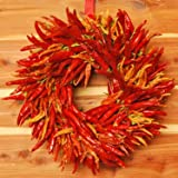 Red Hot Dried Chili Pepper Wreath [Kitchen]