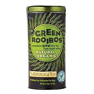 The Republic Of Tea 100% Organic Natural Green Rooibos Tea, 36 Tea Bags