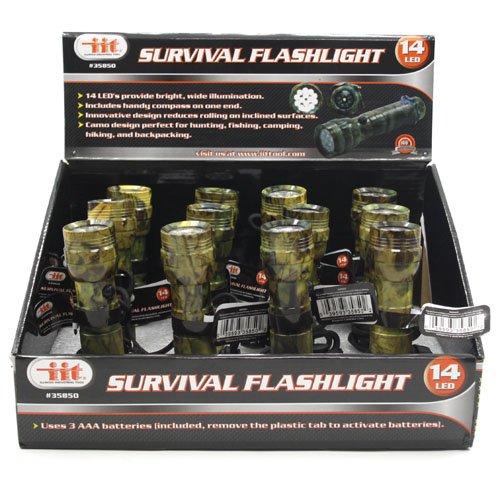 48 Pack Wholesale 14 Led Survival Flashlight Led Flashlight Camping Light