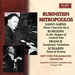 Rubinstein & Mitropoulos Carnegie Hall 1953