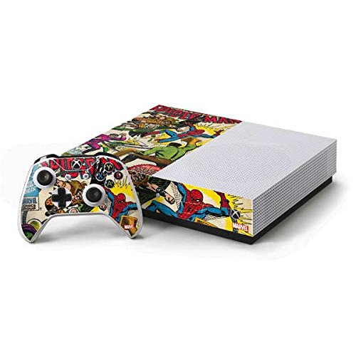 Marvel Comics Xbox One S Console and Controller Bundle Skin - Spider-Man vs Sinister Six Vinyl Decal Skin For Your Xbox One S Console and Controller Bundle