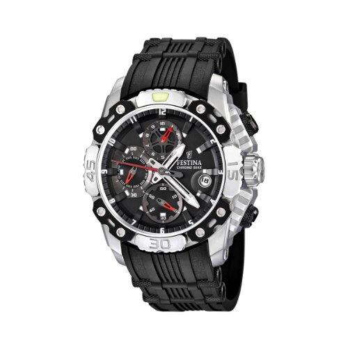Festina F16543/3 - Reloj cronógrafo de cuarzo para hombre con correa de caucho, color negro