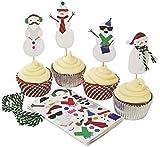 Meri Meri Be Jolly Snowman Cupcake Kit