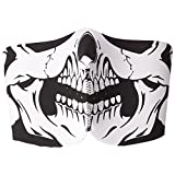AFS 2 In 1 WHITE SKULL Reversible Anti Pollution Anti Dust Half Face Mask One Size Fits All