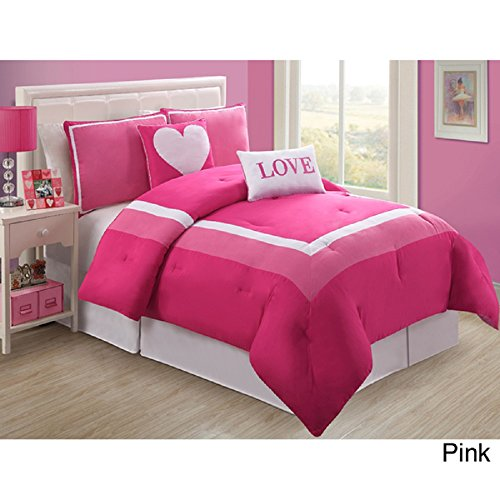 Twin comforter sets girls girls twin bedding kids for Hot pink bedroom set
