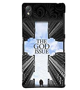 printtech God Issue Back Case Cover for Sony Xperia Z3+::Sony Xperia Z3 Plus