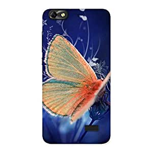 Yellowish Butterfly Back Case Cover for Honor 4C