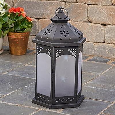 Smart Design Biltmore Star Lantern with White LED Lighting