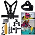 XCSOURCE� Bundle Accessories Set Kit 10 in 1 Handlebar or Seatpost Mount + Chest Strap + Head Strap + Yellow Hand Grip Floating Mount + Strap + 2 x Joint + 3 x Screws For Gopro Hero 1 2 3 3+ OS59