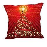 MeSleep Merry Christmas Cushion Covers In Digital Print - B018K9J8I2