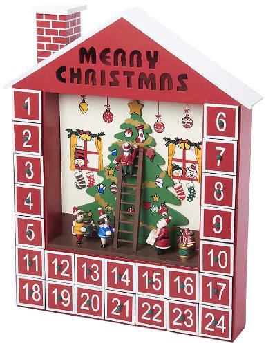 Kurt Adler Wooden Advent Calendar House, 15-Inch (Advent House compare prices)