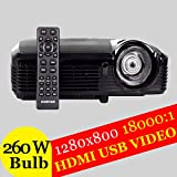 Full HD DLP Ultra 3D Projector 4000ANSI Multimedia Video TV School Daytime Education Class Holographic Film Proyector...