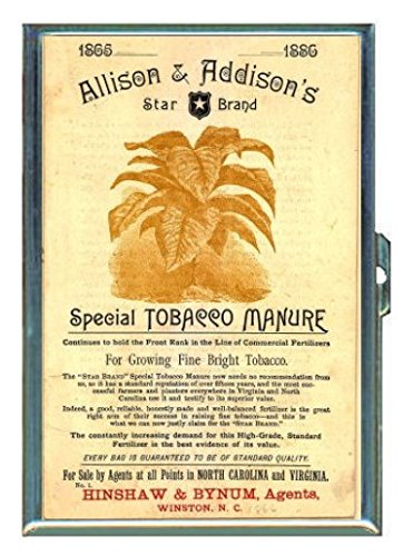 1886 Tobacco Manure, North Carolina ID Wallet or Cigarette Case USA Made