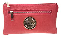 Canal Collection Soft PVC Leather Cross Body Wristlet with Emblem
