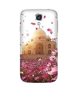 Taj Mahal And Flower Samsung Galaxy S4 Case