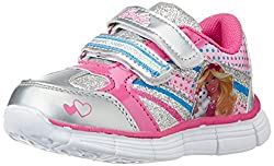 Barbie Girls Silver and Magenta Sports Shoes - 3C UK