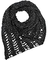 Luxury Divas Metallic Knit Triangle Infinity Scarf