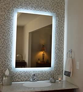 Grade 32quot;x44quot; Side Lighted LED Bath Vanity Mirror: Home amp; K