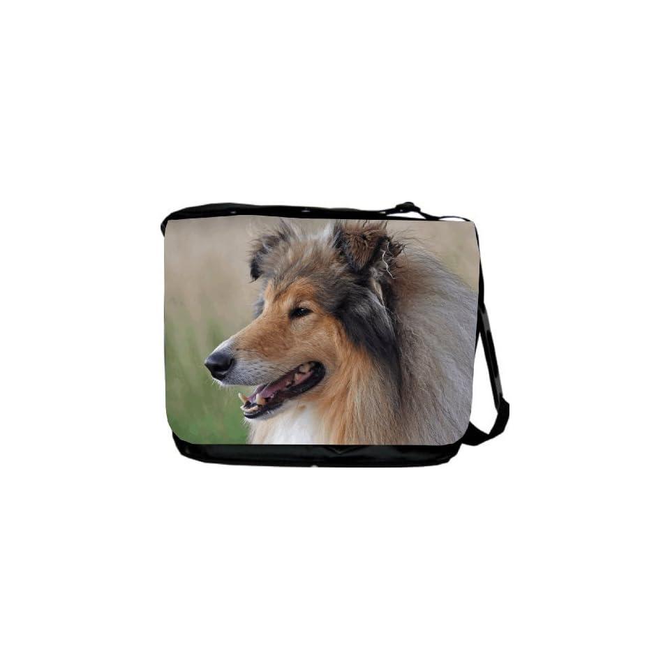Rikki Knight Chow-Chow Dog Silhouette By Moon Messenger Bag School Bag