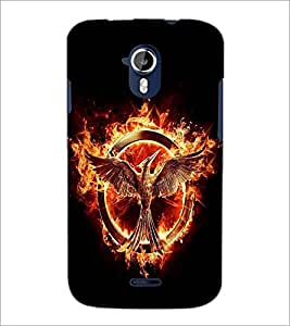 PRINTSWAG FIRE BIRD Designer Back Cover Case for MICROMAX A117 CANVAS MAGNUS