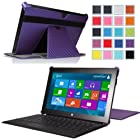 MoKo Slim-fit Case for Microsoft Surface RT / Surface 2 10.6 Inch Windows 8 Tablet (fits with or without Type / Touch Keyboard Cover), Carbon Fiber PURPLE