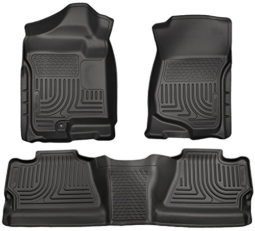 Husky Liners Custom Fit Front and Second Seat Floor Liner Set for Select Chevrolet Silverado/GMC Sierra Models (Black) (Husky Floor Mats Chevy Silverado compare prices)