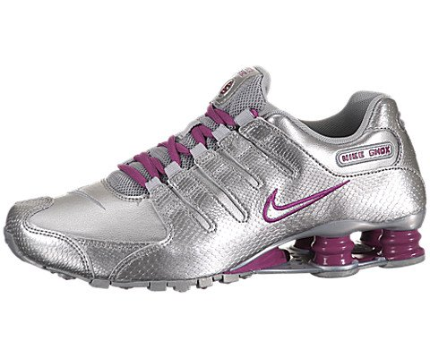 Nike Women's NIKE SHOX NZ EU WMNS RUNNING SHOES 7 Women US (MTLLC SILVER/MTLLC SLVR/RV PNK)