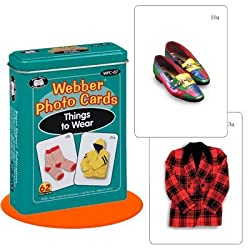 Webber Things to Wear Photo Card Deck - Super Duper Educational Learning Toy for Kids
