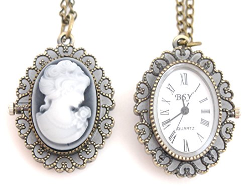 Used in the front and back, and even watches features a cameo antique pendant necklace available (female)