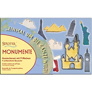 Städter Plätzchen Ausstecher Set Monumente 9 berühmte Bauwerke