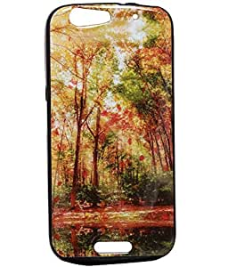 Jkobi Exclusive Rubberised Back Case Cover For Micromax Canvas Gold A300/ A 300 - Nature Of Beauty