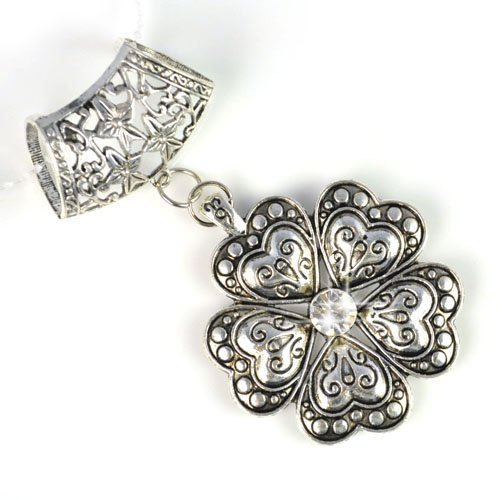 Antique Silver Six Petals Alloy Flower Pendant Charm for Diy Scarves,hot,pt616 Picture