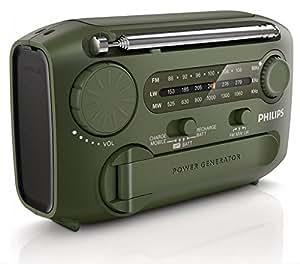 Philips AE1125 Radio portable Tuner FM/AW/LW 0,3 W Lampe torche Alarme Câble micro-USB intégré Noir