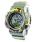 8Years Sport Child Camouflage Digital Wrist Watches Waterproof Alarm Stopwatch Chronograph LED Back Light