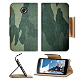 MSD Premium Flip Pu Leather Wallet Case Motorola Google Nexus 6 IMAGE ID: 13246681 Military camouflage background