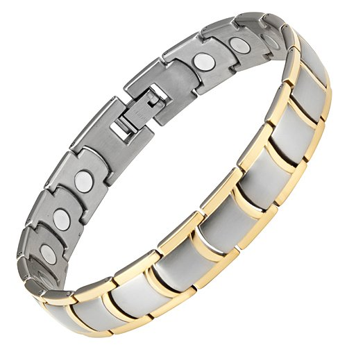 Willis Judd New Mens Titanium 3000g Magnetic Therapy Bracelet In Black Velvet Gift Box Free Link Removal Tool