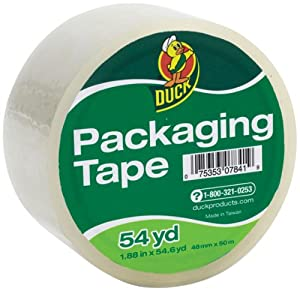 Duck Brand Standard Grade Packaging Tape, 1.88 Inches x 54.6 Yards, Clear (901332)