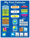 Magnetic My First Learning Calendar - Blue Rigid board 16