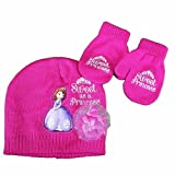 Disney Princess Sofia Sweet As A Princess Toddler Girl's Ages 2-4 Hat & Mittens Set