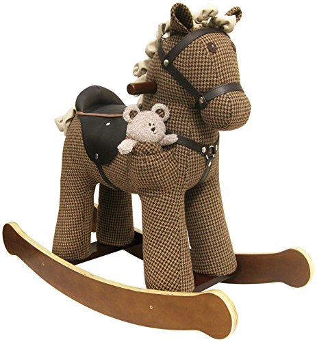 Little Bird Told Me LB3020 Chester & Fred Rocking Horse Ride On, houndstooth - 1