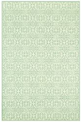 "Safavieh Martha Stewart MSR1214B-4 Aloe Cotton Rug, 3'-9"" x 5'-9"""