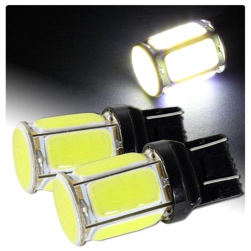 2 X Universal Cree T20 Wedge White 6 Led Cob Plasma Reverse Backup Light Bulbs