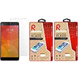 Raydenhy Pack Of 2 Oil Coated Anti Shock HD Screen Protector Tempered Glass For Xiaomi Mi4