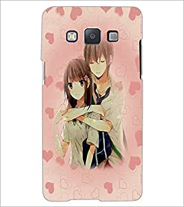 PrintDhaba Couple D-5428 Back Case Cover for SAMSUNG GALAXY E5 (Multi-Coloured)