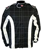 K1 Race Gear 30063424 Black/White XXX-Large Proban Single Layer Cotton Fire Jacket