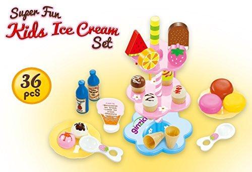 Ginzick Kids Ice Cream Play Food Set - 1
